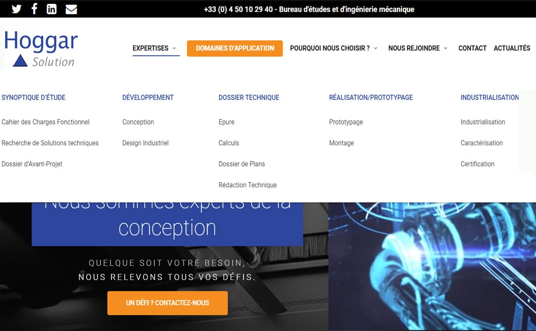 Nouveau Site, Capture Synoptique de conception